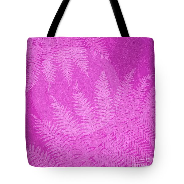 Pink Fern Pattern Tote Bag by Tim Gainey