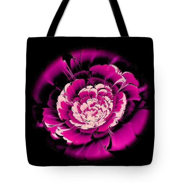 Pink Flower Tote Bag by Anastasiya Malakhova