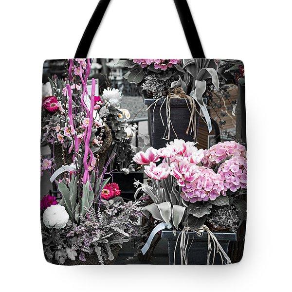 Pink flower arrangements Tote Bag by Elena Elisseeva