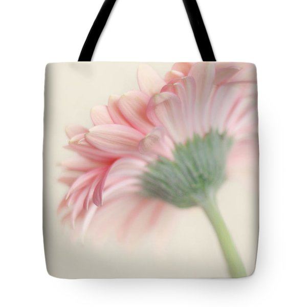 Pink Flower Photography - Pink Nursery Wall Art - Baby Girl Nursery Art - Pale Pink Mint Green Decor Tote Bag by Amy Tyler