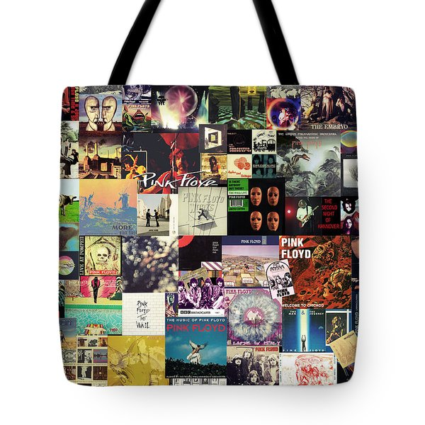 Pink Floyd Collage I Tote Bag by Taylan Soyturk