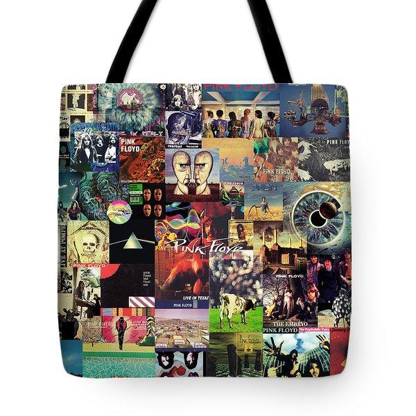 Pink Floyd Collage II Tote Bag by Taylan Soyturk
