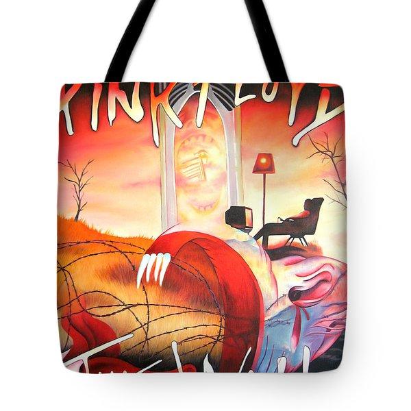 Pink Floyd The Wall Tote Bag by Joshua Morton