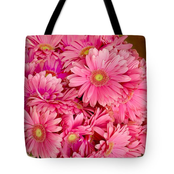 Pink Gerbera Daisies Tote Bag by Art Block Collections