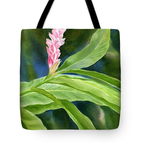 Pink Ginger Flower Tote Bag by Sharon Freeman