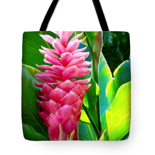 Pink Ginger Tote Bag by Karon Melillo DeVega