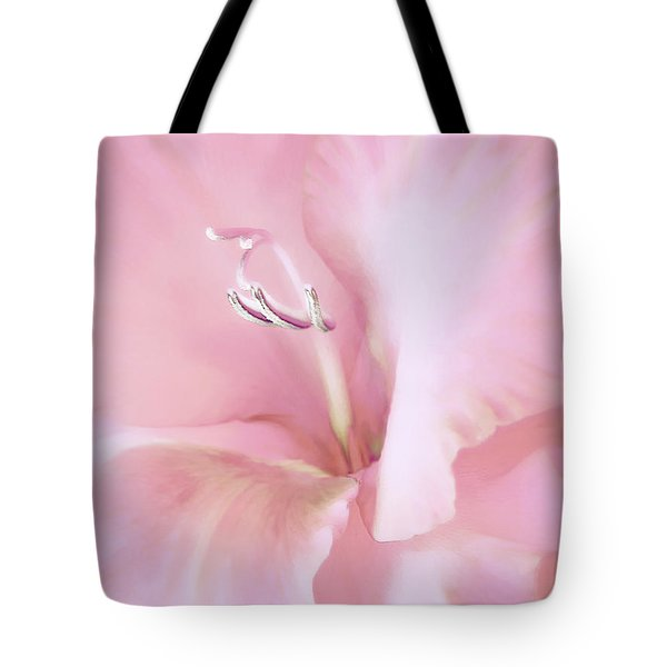 Pink Gladiolus Flower Tote Bag by Jennie Marie Schell