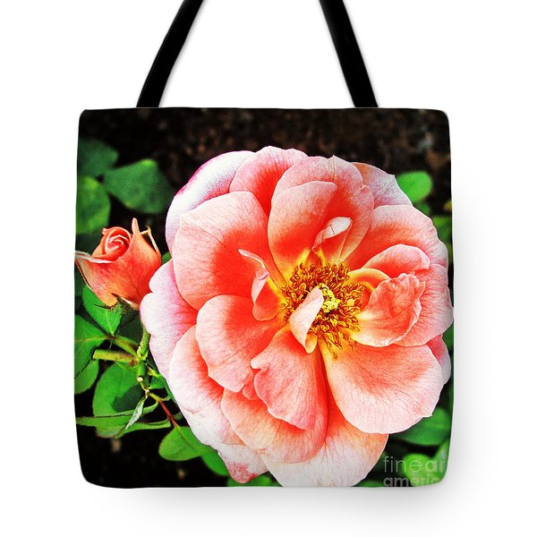 Pink Grace Tote Bag by Nishanth Gopinathan