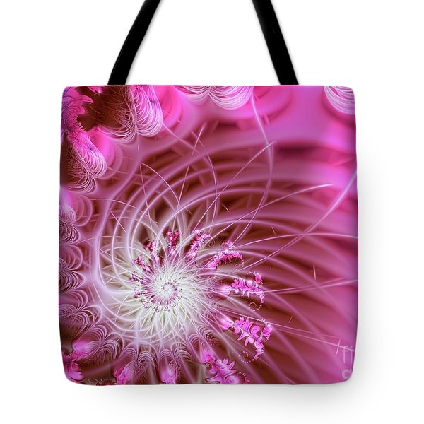 Pink Tote Bag by Lena Auxier