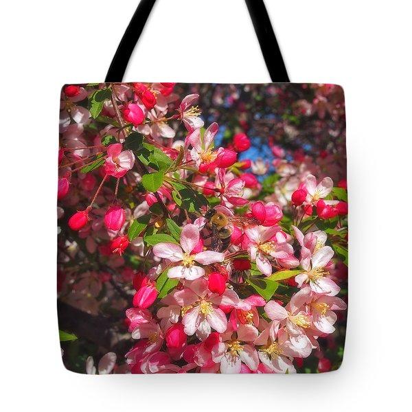 Pink Magnolia 2 Tote Bag by Joann Vitali