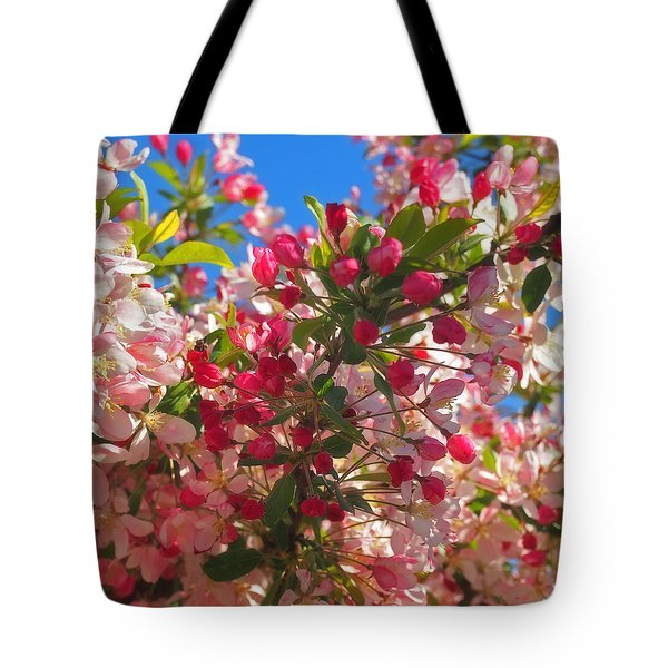 Pink Magnolia Tote Bag by Joann Vitali
