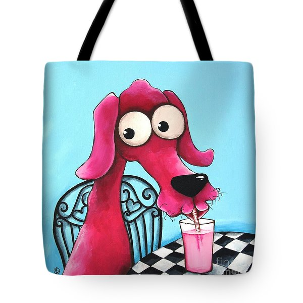 Pink Milk Tote Bag by Lucia Stewart