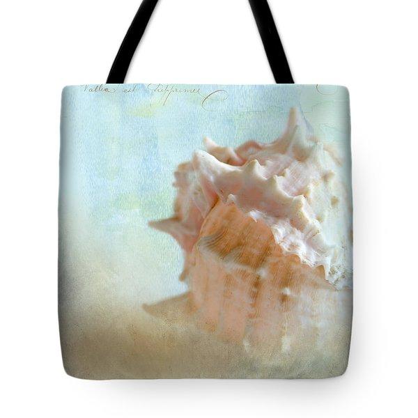 Pink Murex Seashell Tote Bag by Betty LaRue