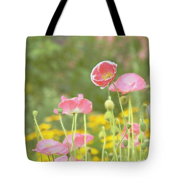 Pink Poppies Tote Bag by Kim Hojnacki