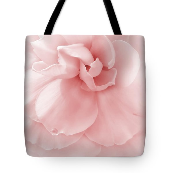 Pink Ruffled Begonia Flower Tote Bag by Jennie Marie Schell