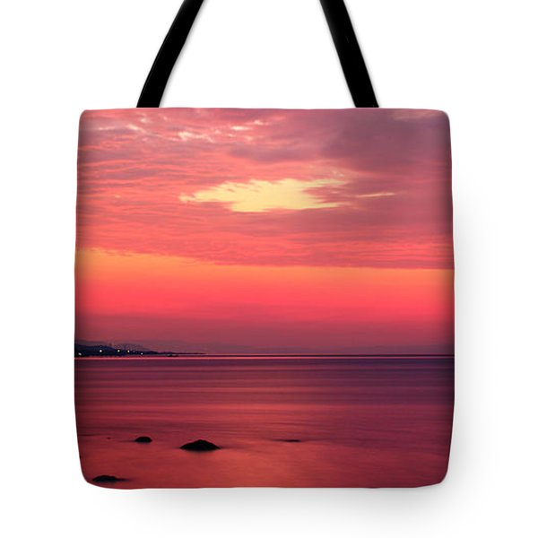 Pink Sunrise  Tote Bag by Leyla Ismet