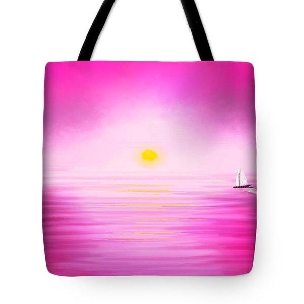 Pink Sunset Tote Bag by Anita Lewis