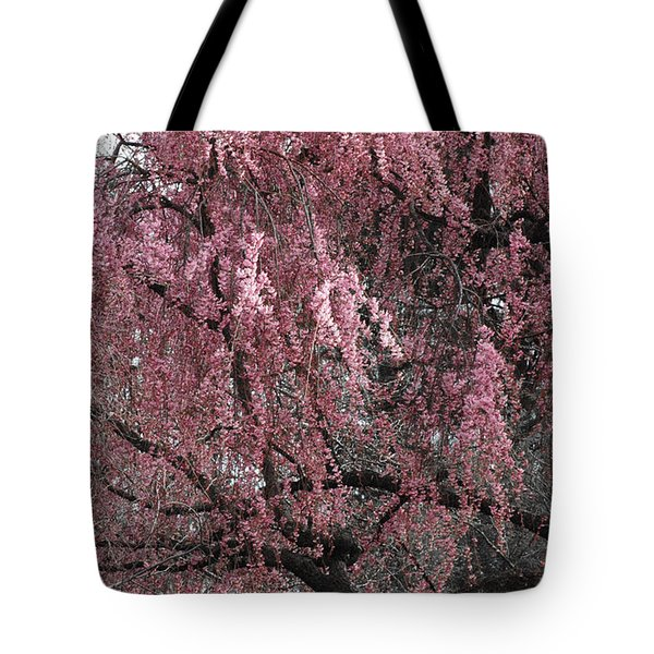 PINK TREE IN BLOOM Tote Bag by ADSPICE STUDIOS
