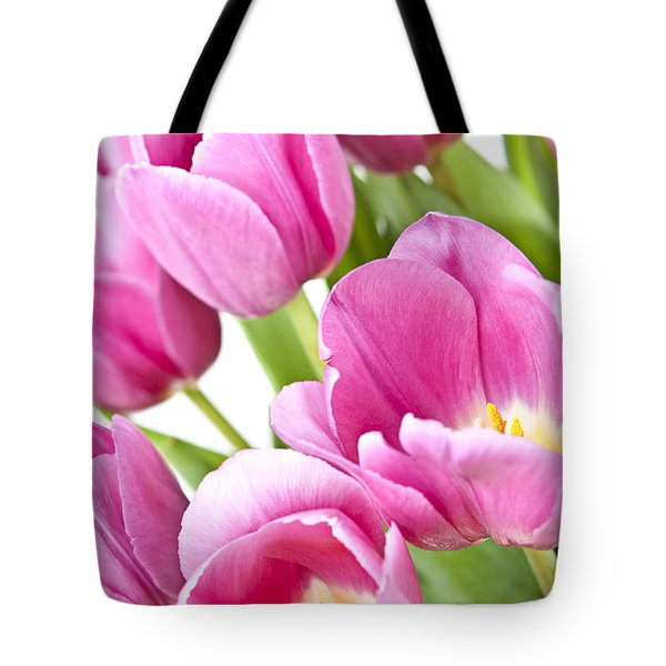 Pink tulips Tote Bag by Elena Elisseeva