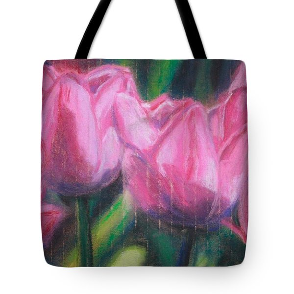 Pink Tulips Tote Bag by Sarah Vandenbusch
