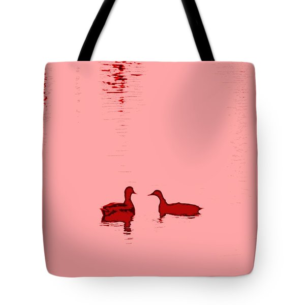 pink water Tote Bag by Hilde Widerberg