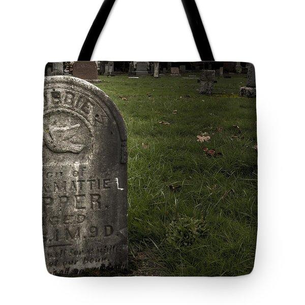 Pioneer Grave Tote Bag by Jean Noren