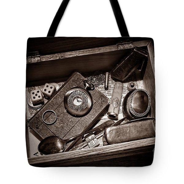 Pioneer Keepsake Box Tote Bag by American West Legend By Olivier Le Queinec