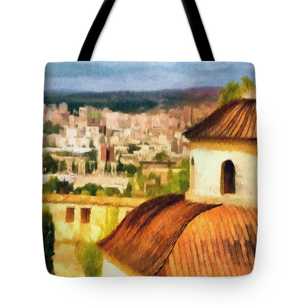 Pious Witness to the Passage of Time Tote Bag by Jeff Kolker