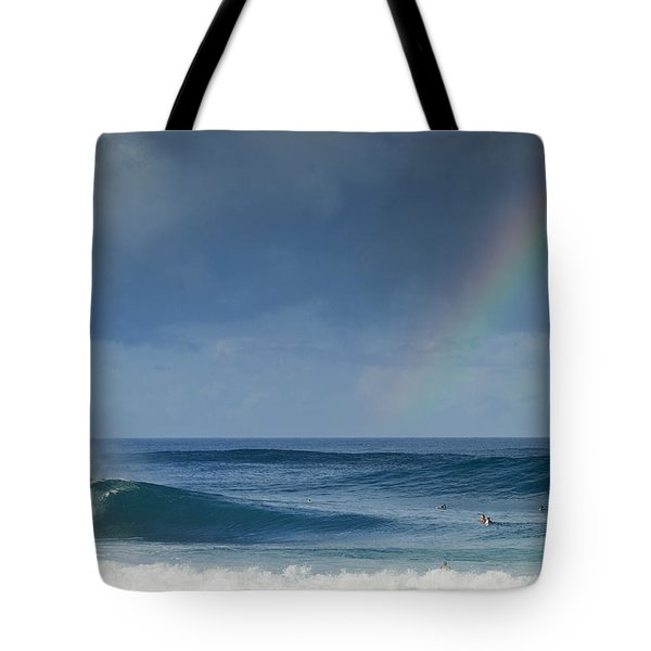 Pipe At The End Of The Rainbow Tote Bag by Sean Davey