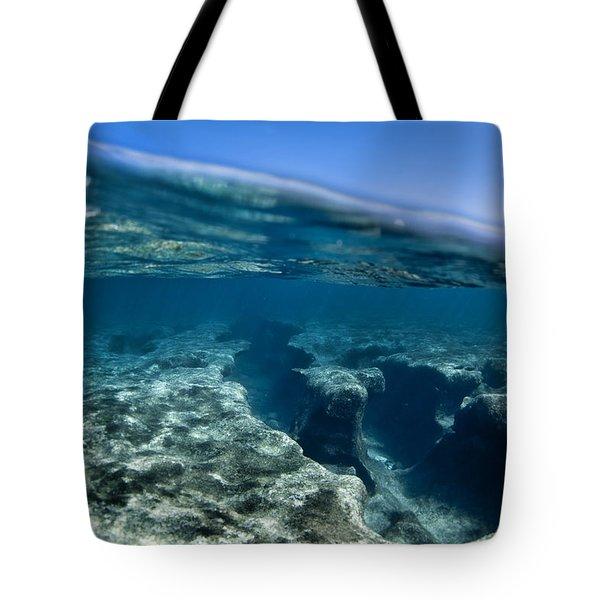 Pipe reef. Tote Bag by Sean Davey