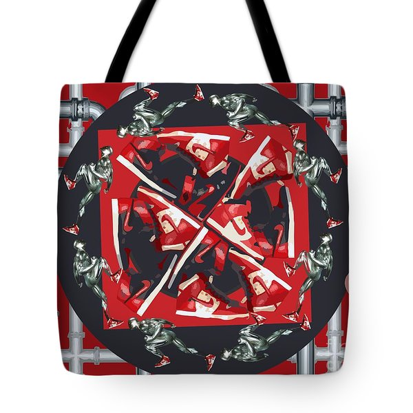 Pipes And Kicks Tote Bag by Alfie Borg