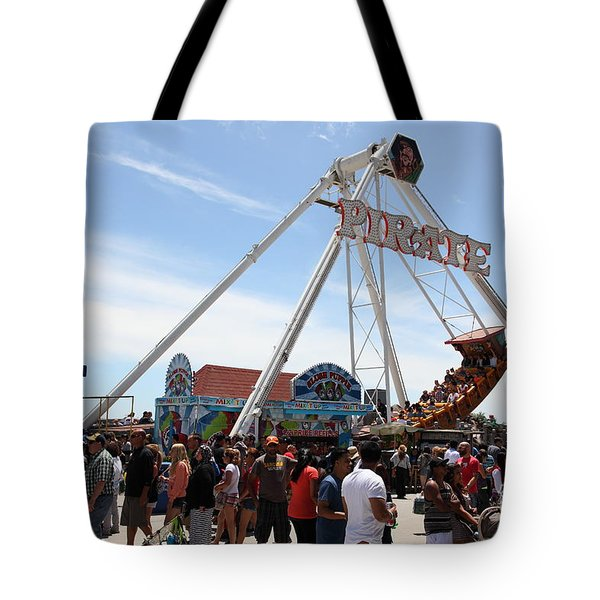 Pirate Ship At The Santa Cruz Beach Boardwalk California 5D23854 Tote Bag by Wingsdomain Art and Photography