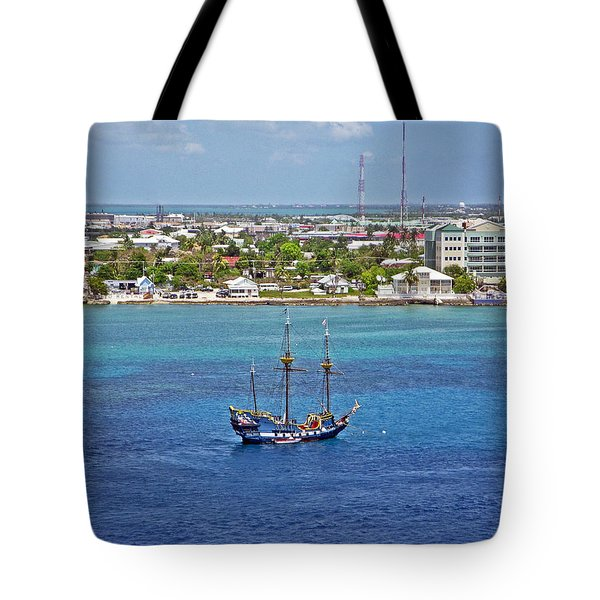 Pirate Ship in Cozumel Tote Bag by Aimee L Maher Photography and Art