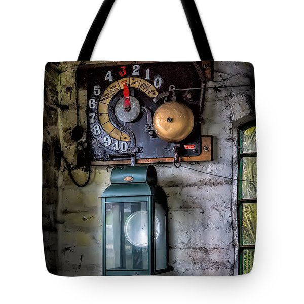 Pit Lift Control Tote Bag by Adrian Evans