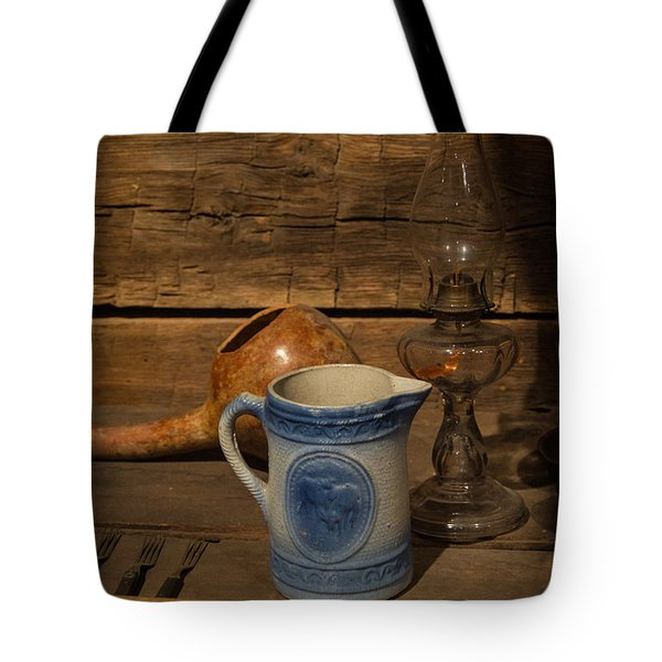 Pitcher Cup And Lamp Tote Bag by Douglas Barnett
