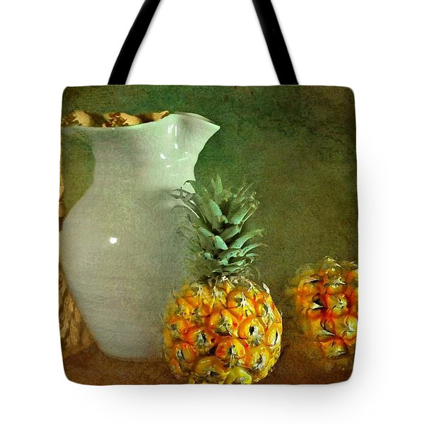 Pitcher with Pineapples Tote Bag by Diana Angstadt