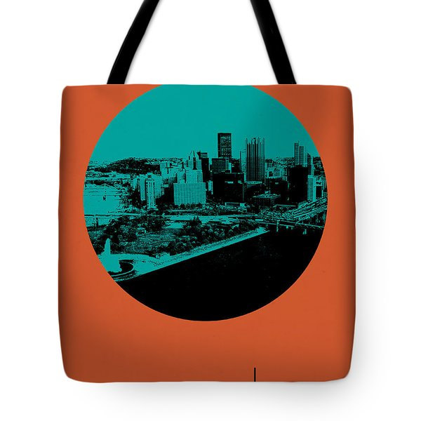 Pittsburgh Circle Poster 1 Tote Bag by Naxart Studio