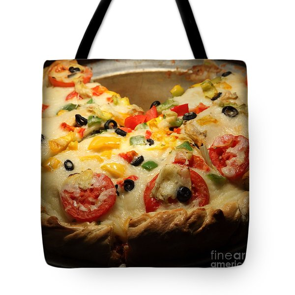 Pizza Pie - 5D20700 - square Tote Bag by Wingsdomain Art and Photography