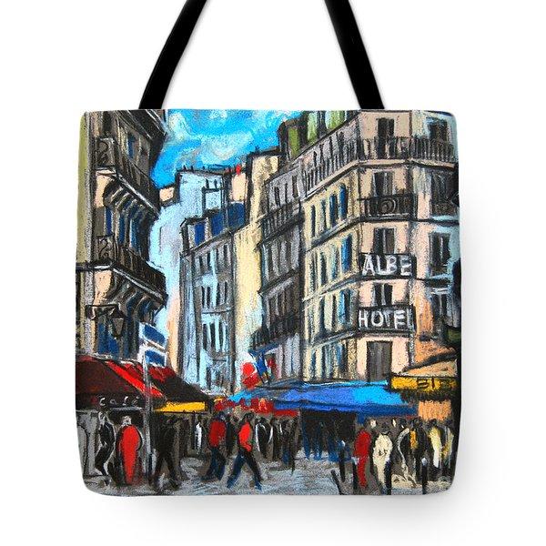 Place Saint-michel In Paris Tote Bag by Mona Edulesco