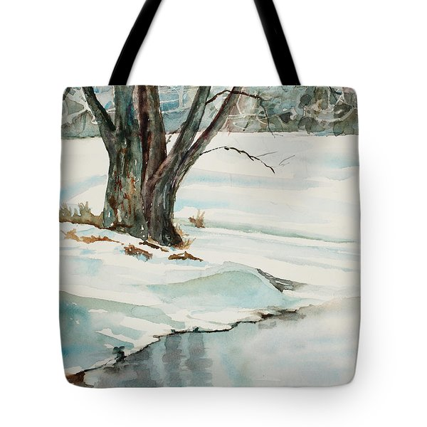 Placid Winter Morning Tote Bag by Mary Benke