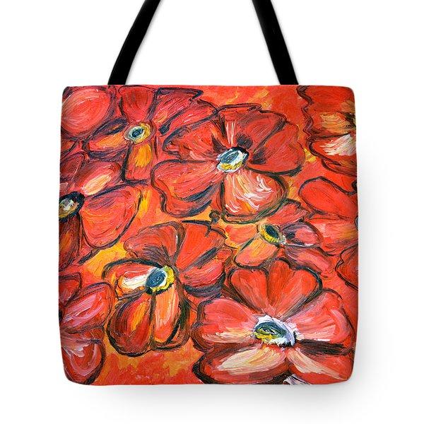 Plaisir Rouge Tote Bag by Ramona Matei