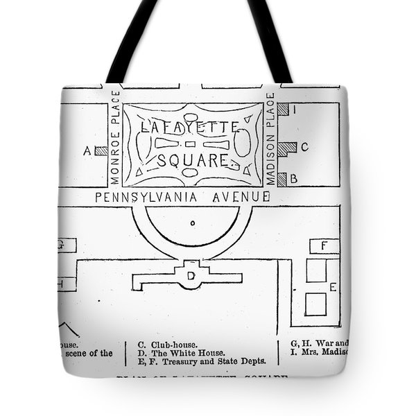 Plan Of Lafayette Square Tote Bag by Granger