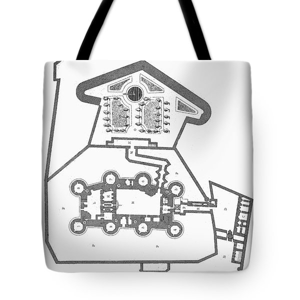 Plan Of The Bastille Tote Bag by Granger