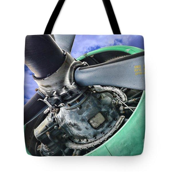 Plane Green Prop Tote Bag by Paul Ward