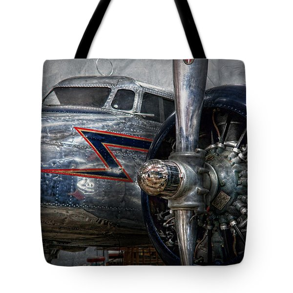 Plane - Hey fly boy  Tote Bag by Mike Savad