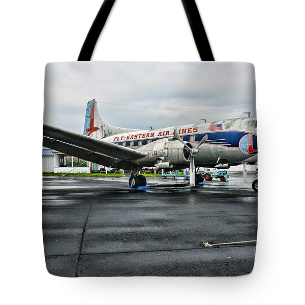 Plane On The Tarmac Tote Bag by Paul Ward