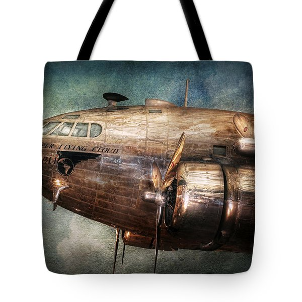 Plane - Pilot - The Flying Cloud  Tote Bag by Mike Savad