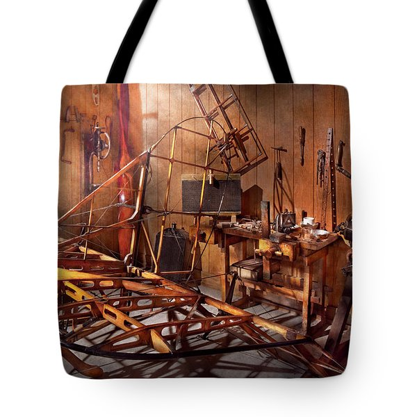 Plane - The dawn of aviation Tote Bag by Mike Savad