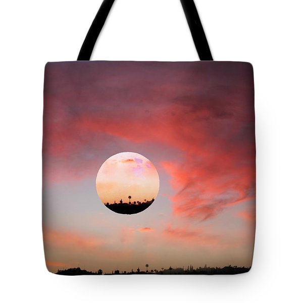 Planet and Sunset Tote Bag by Augusta Stylianou