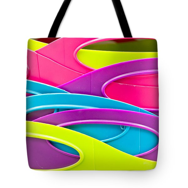 Plastic Tubs Tote Bag by Tom Gowanlock